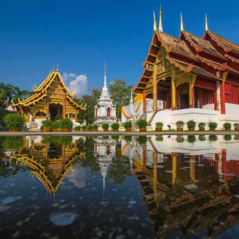 Wat Phra Sing Chiang mai villes du nord de la thaïlande