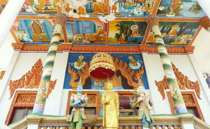 Battambang temple décors